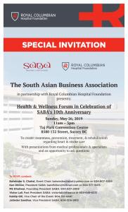 Health Seminar in Celebration of SABA's 10 th Anniversary